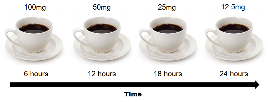 coffee half life Milligrams Of Caffeine Are In The Average Cup Of Coffee
